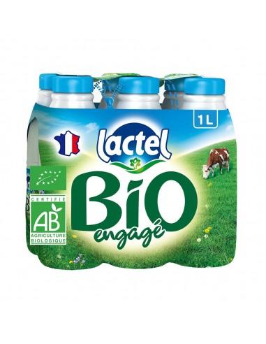 Lait 1/2 écrémé Lactel bio 1 litre x 6